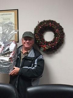 Christmas Gift Basket Winner Kerry McTaggart